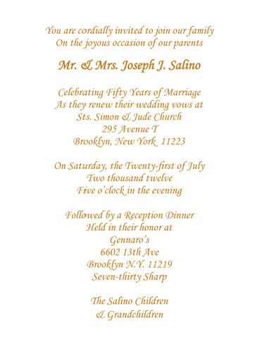 Designs 50th Wedding Anniversary Invitation Cards Matter In Golden Jubilee Hindi