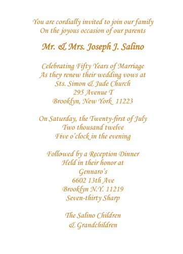 25 Anniversary Invitation