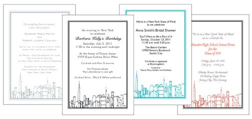New York City Theme Invitations
