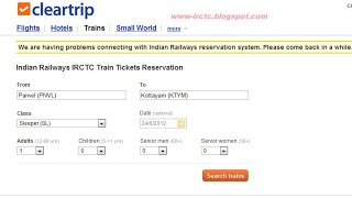 Clear Trip Alternative booking Website for IRCTC