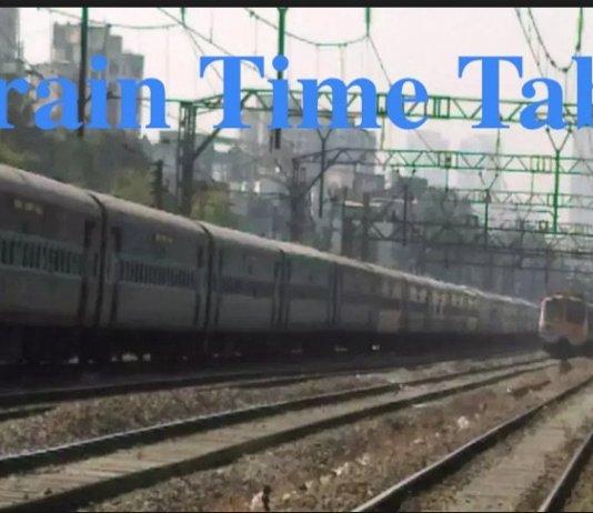 Train Time Table , Eastern Railway Train Time Table