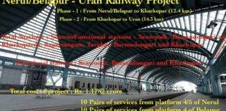 Nerul:Belapur - Uran Railway Project