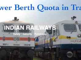 Lower Berth Quota in Trains