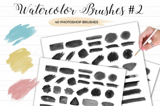 Watercolor Photoshop Brushes 2