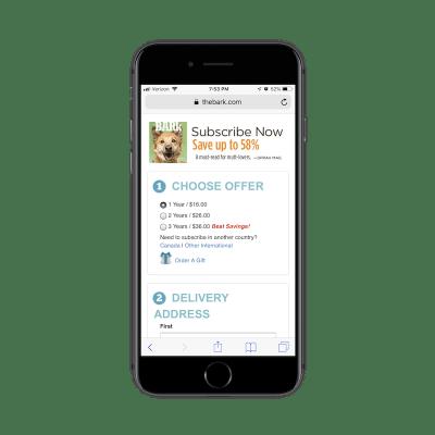 The Bark subscription