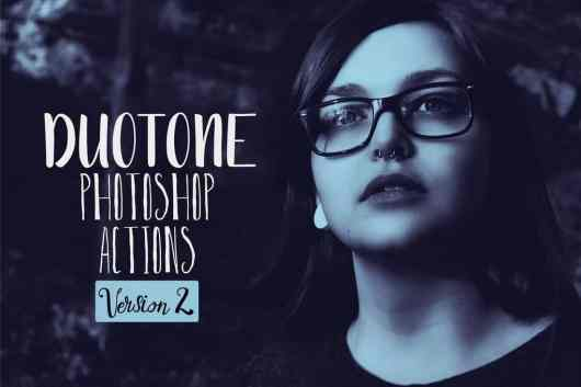 Duotone - Portrait Photoshop Actions