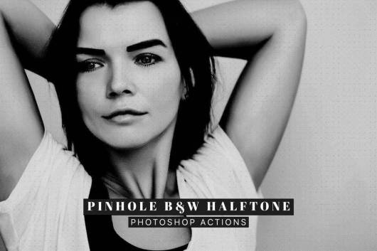 Pinhole Halftone - Portrait Photoshop Actions