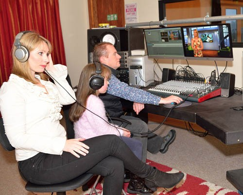 Leo, Noreen and Shannon Fitzgerald at work in their new studio.