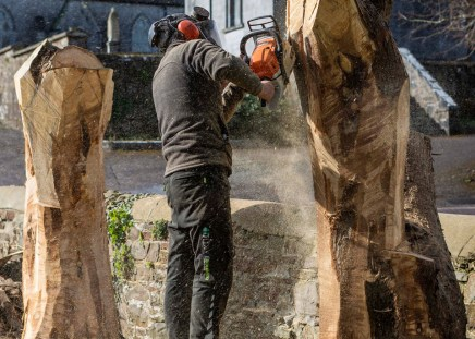 Chainsaw carving photo by Ellen O'Sullivan