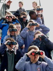 Scoil Iosaef Naofa pupils on a field trip to Cork Harbour