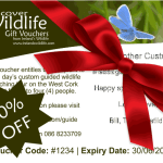Wild Friday deal — 10% off all Discover Wildlife Gift Vouchers until Sunday!