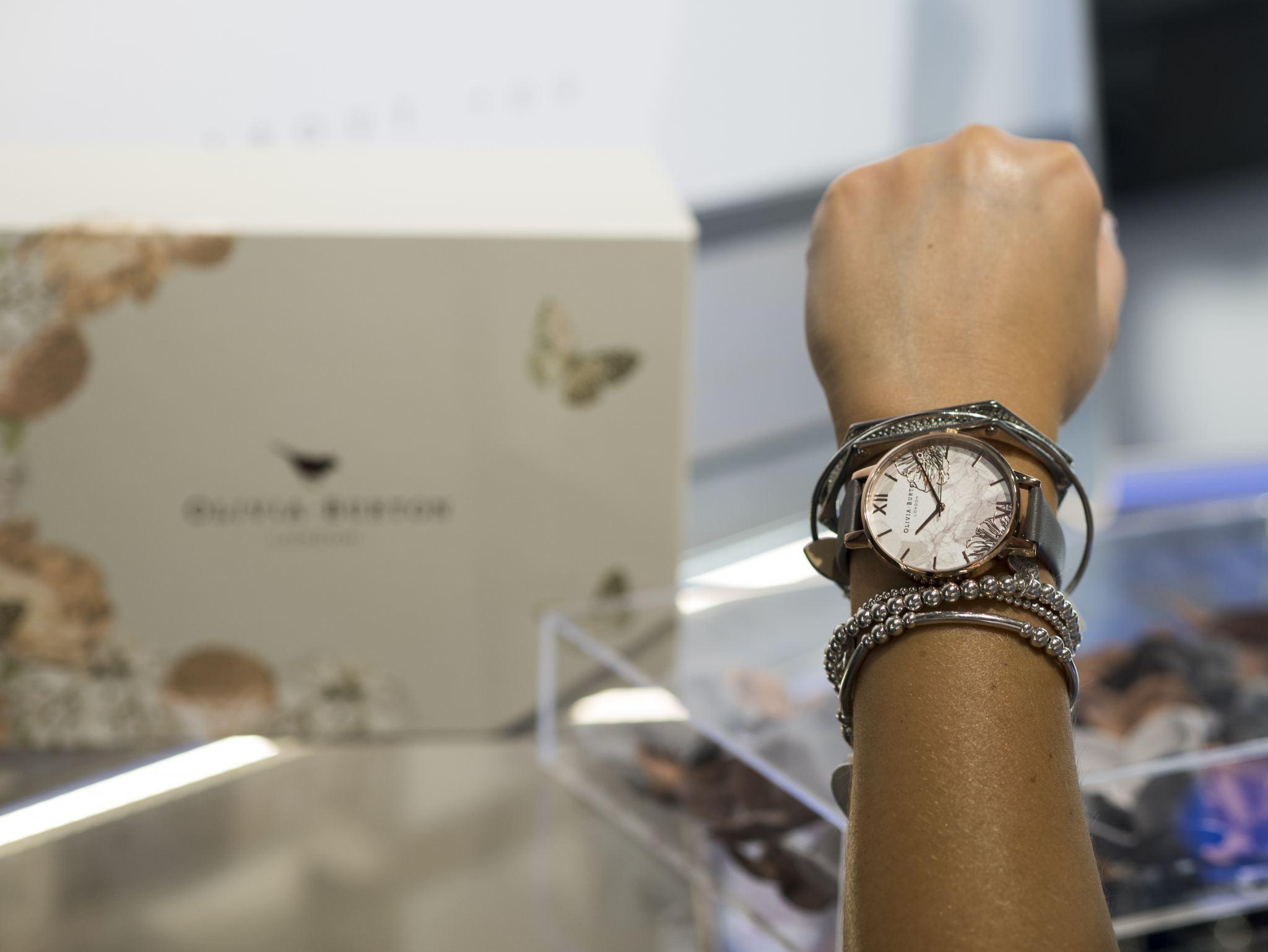 manchester fashion blogger , manchester blogger, jewellery store, argento , olivia burton watch, watch, accessory , jewellery
