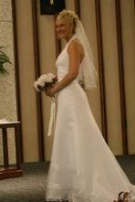 November 10, 2007 - Elizabeth, student founder of Life in a Jar/the Irena Sendler Project on her wedding day.