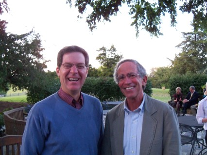 Governor of Kansas, Sam Brownback, visits with Life in a Jar author, Jack Mayer of Vermont.
