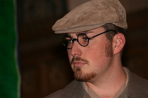 Travis Stewart, brother of project founder, Megan Stewart Felt, plays Polish rescuer, Dr. Wos. Dr. Wos is presently living in New York City and has seen the play. Travis also plays the German soldier in the play. He has been involved in over 1,500 hours of effort on the Irena Sendler Project.