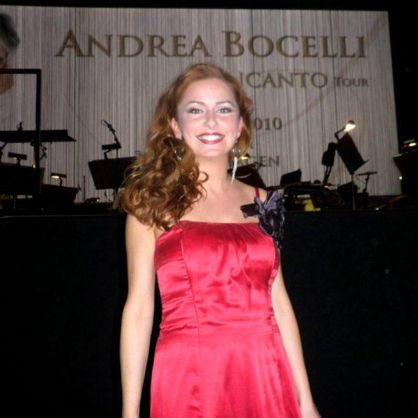 Irene de Raadt concert met Andrea Bocelli