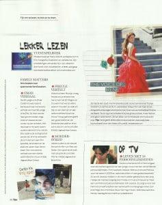Zangeres Irene de Raadt, sopraan, artikel in tijdschrift Flair