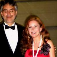 Zangeres Irene de Raadt en de Italiaanse tenor Andrea Bocelli