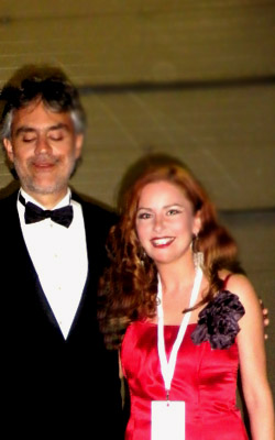 Irene en de sympathieke Andrea Bocelli.