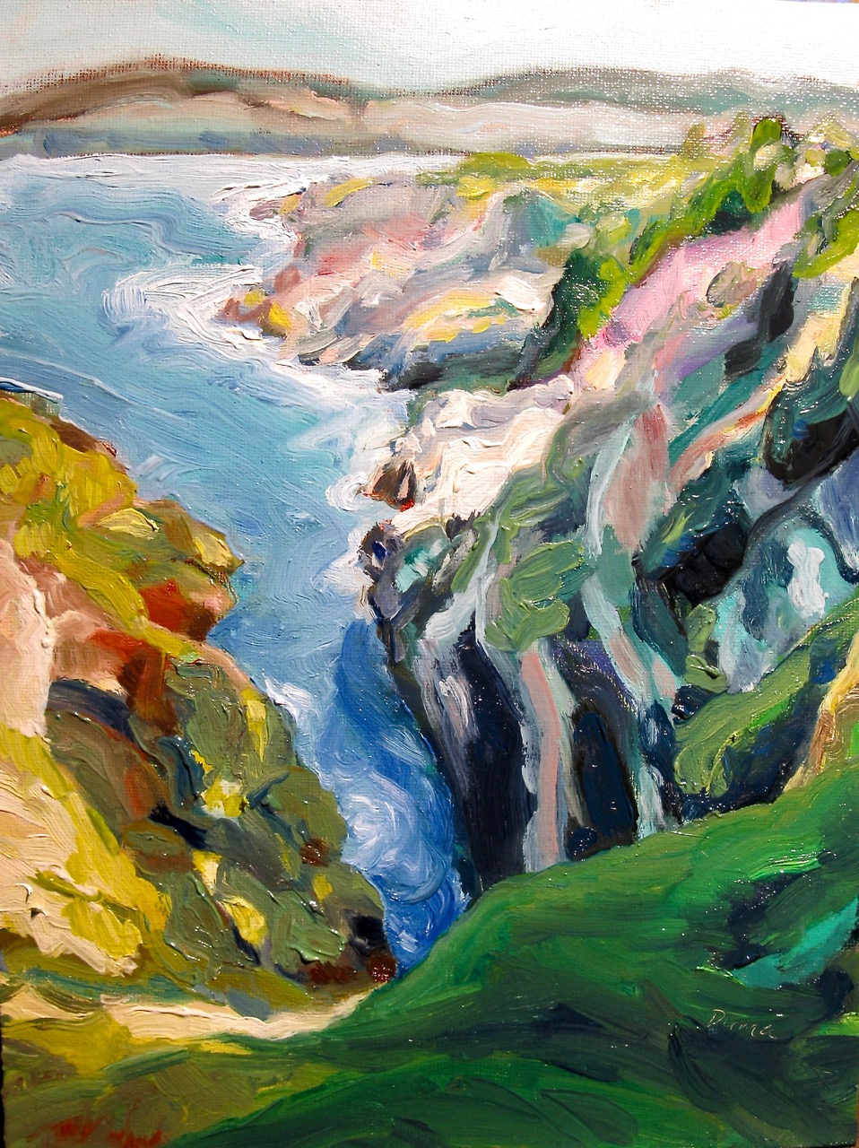 oil painting of Newfoundland coast