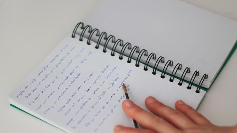 escribir miedo