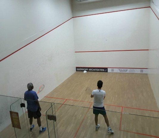 PRESIDENT KOROMA ENJOYS A GOOD GAME OF SQUASH IN GERMANY
