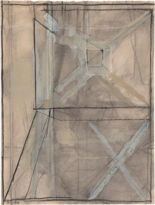 Richard Diebenkorn, Untitled #15, 1970, charcoal and gouache on paper, 24⅞ x 18⅞ inches, catalogue raisonné no. 4044. ©RICHARD DIEBENKORN FOUNDATION