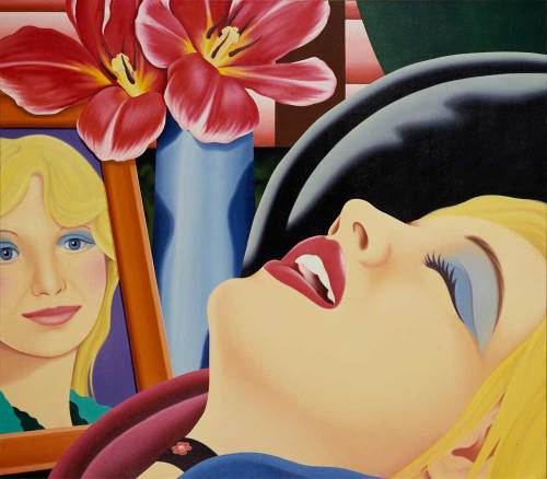 Tom Wesselmann (American, Pop Art, 1931-2004): Bedroom Painting No. 38, 1978, Oil on canvas, 213.36 x 246.38 cm, Hirshhorn Museum and Sculpture Garden Washington, D.C., USA. © Estate of Tom Wesselmann/SODRAC, Montreal/VAGA, New York (2012), Photo: Lee Stalsworth. © This artwork may be protected by copyright. It is posted on the site in accordance with fair use principles.