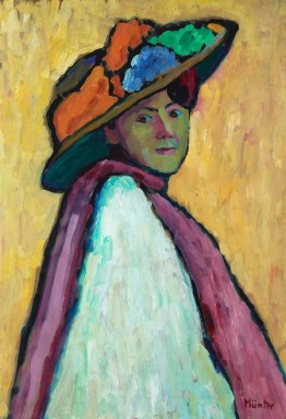 Gabriele Münter (German, Expressionism, 1877–1962): Portrait of Marianne von Werefkin, 1909. Oil on cardboard, 81 x 55 cm. Lenbachhaus, Munich, Germany. © Artists Rights Society (ARS), New York / VG Bild-Kunst, Bonn. © This artwork may be protected by copyright. It is posted on the site in accordance with fair use principles.