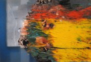 Gerhard Richter (German, b. 1932): 3.4.08, 2008. Overpainted photograph, 12.5 cm x 18.5 cm. Wako Works of Art, Tokyo, Japan. © Gerhard Richter. © This artwork may be protected by copyright. It is posted on the site in accordance with fair use principles.
