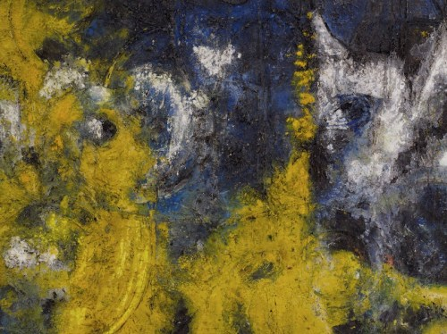 Richard Pousette-Dart, Yellow Amorphous, 1950, oil on canvas. Photo: Kerry Ryan McFate ©2016 ESTATE OF RICHARD POUSETTE-DART/ARISTS RIGHTS SOCIETY (ARS), NEW YORK/KERRY RYAN MCFATE/COURTESY PACE GALLERY