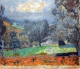 Pierre Bonnard (French, Post-Impressionism, 1867-1947): Landscape at Sunset, Le Cannet (Paysage au soleil couchant Le Cannet), 1927. Kunsthaus Zürich, Zürich, Switzerland. © Museum of Fine Arts, Boston. © Artists Rights Society (ARS), New York/ADAGP, Paris. © This artwork may be protected by copyright. It is posted on the site in accordance with fair use principles.