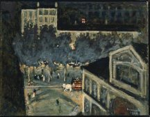 Pierre Bonnard (French, Post-Impressionism, 1867-1947): Paris Boulevard at Night, 1900. Oil on paperboard, 45.1 x 58.1 cm (17-3/4 x 22-7/8 inches). Museum of Fine Arts, Boston, Massachusetts, USA. (Not on view) © Artists Rights Society (ARS), New York / ADAGP, Paris. Image: © Museum of Fine Arts, Boston. © Artists Rights Society (ARS), New York/ADAGP, Paris. © This artwork may be protected by copyright. It is posted on the site in accordance with fair use principles.
