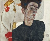 Egon Schiele: Self-Portrait with Chinese Lantern Plant, 1912.