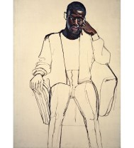 Alice Neel (American, 1900-1984): James Hunter Black Draftee, 1965. Oil on canvas 60 x 40 inches (152.4 x 101.6 cm). David Zwirner, New York/London. © The Estate of Alice Neel & Aurel Scheibler.