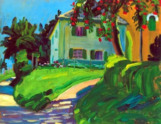 Gabriele Münter (German, Expressionism, 1877-1962): Sommer 1908 (Haus mit Apfelbaum), 1908. © This artwork may be protected by copyright. It is posted on the site in accordance with fair use principles.