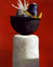 Julio Larraz (Cuban, b. 1944): Autumn, 2000. Oil on canvas. Private Collection. © Julio Larraz. © This artwork may be protected by copyright. It is posted on the site in accordance with fair use principles.