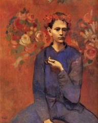 Pablo Picasso (Spanish, Rose Period, 1881-1973): Boy with a Pipe (Garçon à la pipe), 1905. Oil on canvas, 100 x 81.3 cm. Private Collection.
