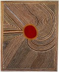 Mick Namarari Tjapaltjarri (Australian, Aboriginal, Pintupi language group; 1926-1998): Bandicoot Dreaming, 1991. © This artwork may be protected by copyright. It is posted on the site in accordance with fair use principles.