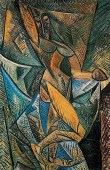 Pablo Picasso (Spanish; Cubism, African Period, 1881-1973): Dance of the Veils (La danse au voiles), 1907. Oil on canvas, 150 x 100 cm. State Hermitage Museum, St. Petersburg, Russia.