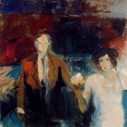 Elmer Bischoff (American, Bay Area Figurative Movement, 1916–1991): Couple, c. 1960. Oil on canvas. © Estate of Elmer Bischoff. © This artwork may be protected by copyright. It is posted on the site in accordance with fair use principles.