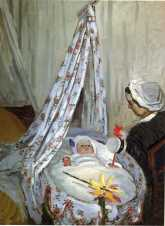 Claude Monet (French, Impressionism, 1840-1926): Jean Monet in the Cradle, 1867.