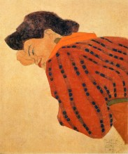 Egon Schiele: Reclining Woman with Red Blouse, 1908.