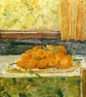 Pierre Bonnard (French, Les Nabis, 1867-1947): Still LIfe with Lemons, 1917-1918. Oil on canvas, 48.5 x 42.8 cm. Private Collection. © Artists Rights Society (ARS), New York/ADAGP, Paris. © This artwork may be protected by copyright. It is posted on the site in accordance with fair use principles.