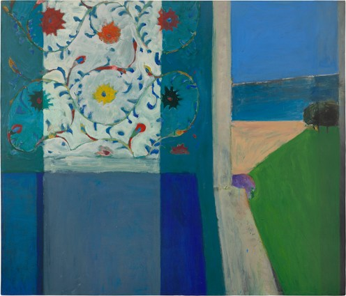Richard Diebenkorn (American, Bay Area Figurative Movement, 1922–1993): Recollections of a Visit to Leningrad, 1965. Oil on canvas, 73 x 84 inches (185.4 x 213.4 cm). Private Collection. © The Richard Diebenkorn Foundation. © This artwork may be protected by copyright. It is posted on the site in accordance with fair use principles.