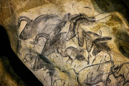 Chauvet Cave, Animals from the period. Vallon-Pont-d'Arc. c. 30,000-28,000 or 15,000-13,000 BCE.