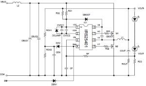 International Rectifier  IRS25411PBF | 600V Half Bridge