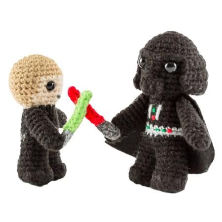 Star Wars Häkelset mit Luke Skywalker und Darth Vader Häkelfigur