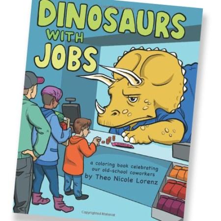 Dinosaurier mit Jobs - Dinos im Arbeitsalltag Malbuch