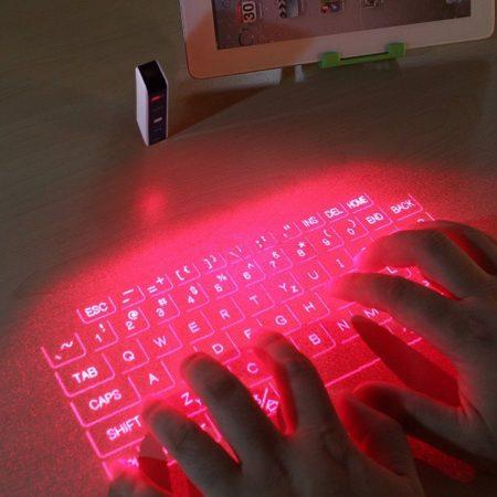 Virtuelle Tastatur - Computertastatur mit Bluetooth Laser Projektor